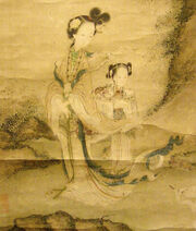 Detail of Xie Wenli's painting of Xi Wangmu
