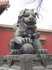China - Beijing 12 - lion outside the Tibetan Monastery (134036069)
