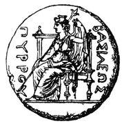 Dione on throne - Roscher 1,1 p. 1029