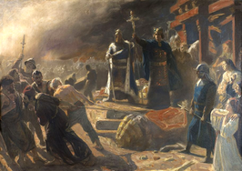 266px-Bishop Absalon topples the god Svantevit at Arkona