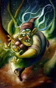 A bruxa dos dentes verdes