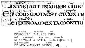 Angelsächsische Schrift RdGA Band 1 Tafel 04-01