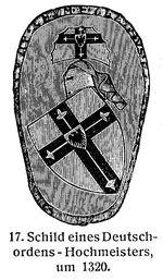 Deutschorden Schild 1320 MgKL Rüstungen und Waffen III Fig.17