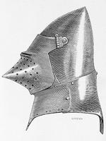 Grand Bacinet um 1400, dictionnairerai05violuoft, p.164-8