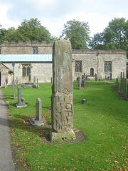 Anglo Saxon Cross, All Saints Church, Bradbourne, Derbyshire