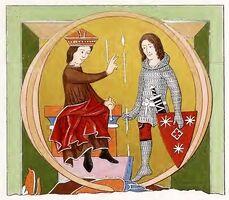 Buchmalerei Hoffstadt 1220-1280, trachtenkunstwer02hefn Taf.118A