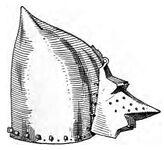 Beckenhaube mit Visier 14.Jh. handbuchderwaff00collgoog, Fig.019