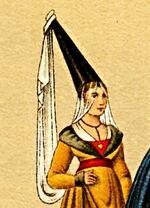 MgKL Kostüme 02 Wm11536b, Abb.03 - Hennin, Johanna von Flandern 1341