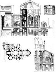Aachen Pfalzkapelle Rekonstruktion 1887