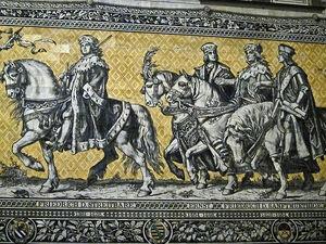 Fürstenzug - Friedrich der Streitbare