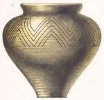 Keramikgefäß 10.Jh., trachtenkunstwer01hefn p097, Taf.025a