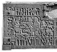 Runenkästchen von Auzon vordere Tafel 2006-01-29