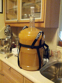 Mead Five gallons fermenting