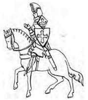 Reiter mit Achselschild 14.Jh. handbuchderwaff00collgoog, Fig.188