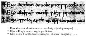 Angelsächsische Schrift RdGA Band 1 Tafel 05-07