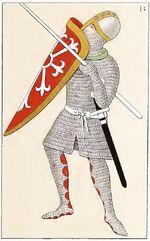 Fußkämpfer 1160-1220, trachtenkunstwer02hefn Taf.099B
