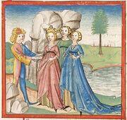 Cod. Pal. germ. 345, fol. 292r - Friedrich von Schwaben, Angelburg-Erlösung