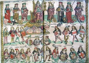 Organizational Structure of HRR Nuremberg chronicles (CLXXXIIIv-CLXXXIIIIr)