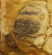 Zeichnung Detail, Altamira Höhle Spanien 2010-11-11
