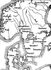Scandza Jordanes 550 AD