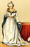 MgKL Kostüme 02 Wm11536b, Abb.07 - Vornehme dt. Frau, 1450