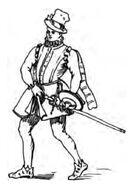 Kavalier, England 16.Jh. handbuchderwaff00collgoog, Fig.203