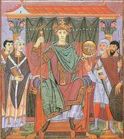 Evangeliar Ottos III., BSB Clm 4453, fol. 24r