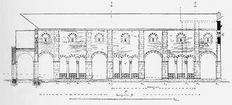 Aachener Pfalzkapelle, Atrium Längsschnitt - RdgA Bd1, Abb.022