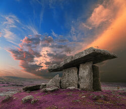 Poulnabrone Dolmen Sunset - Lavender Fantasy