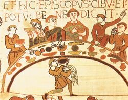 Feast of William the Conqueror - Bayeux Tapestry 01
