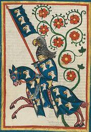 Codex Manesse Hartmann von Aue Ritter