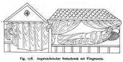 Angelsächsischer Bettschrank Stephani Wohnbau Fig. 178
