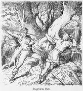 Siegfrieds Tod, Nibelungen, Walhallgermanisc1888dahn p602