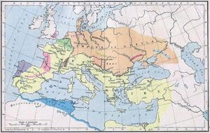 Roman-hunnic-empire ca 450