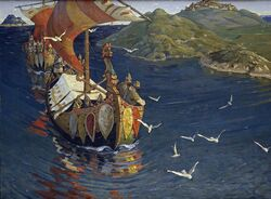 Vikings Guests from Overseas (Nicholas Roerich)