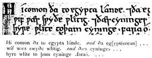 Angelsächsische Schrift RdGA Band 1 Tafel 06-09