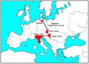 Langobarden Völkerwanderung Karte by Macconi, 2006