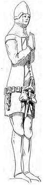 Graf von Neuenburg mit Dupsing, 14.Jh. handbuchderwaff00collgoog, Fig335
