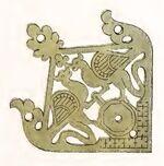 Eckbeschlag Wiesbaden, 1280-1320, Trachtenkunstwer03hefn Taf.150G