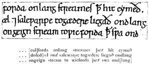 Angelsächsische Schrift RdGA Band 1 Tafel 06-11