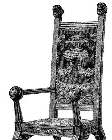 Mittelalter stuhl