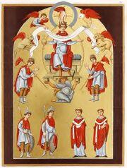 Liuthar-Evangeliar, fol.16r, trachtenkunstwer01hefn Taf.036