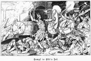 Wölsungen Kampf in Atlis Saal, Walhallgermanisc1888dahn p347