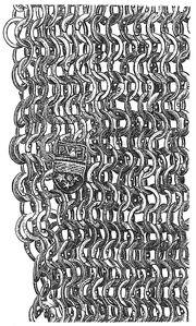 Maschengeflecht eines Panzerärmels MgKL Rüstung 170335a