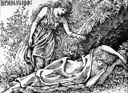 Hyndluliod Freyja awakes Hyndla by W. G. Collingwood