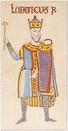 Leges Langobardorum, König Loduicus 9. Jh., trachtenkunstwer01hefn Taf.016b