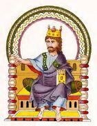 Stuttgarter Psalter Cod.bibl.fol.23, p032v - König