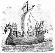 Norman Ship (Bayeux Tapestry), Briefhistoryofme00stee p048