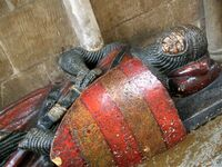 Worcester cathedral, effigy of William de Harcourt