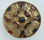 Goldscheibenfibel 7. Jhd., RLM Trier 1919,136a